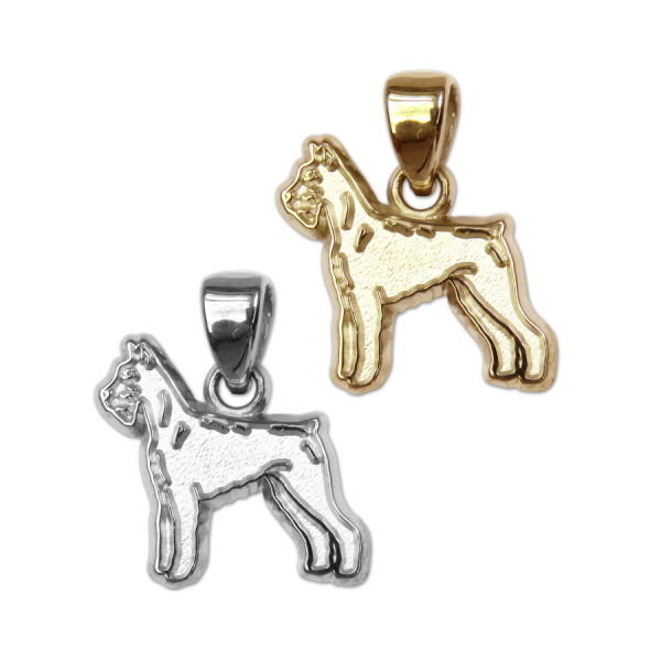 Giant Schnauzer Charm or Pendant in Sterling Silver or 14K Gold