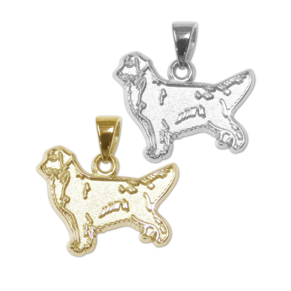 Golden Retriever Charm or Pendant in Sterling Silver or 14K Gold
