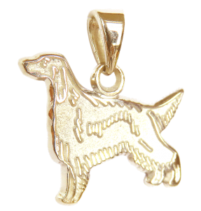 Gordon Setter Charm or Pendant in Sterling Silver or 14K Gold