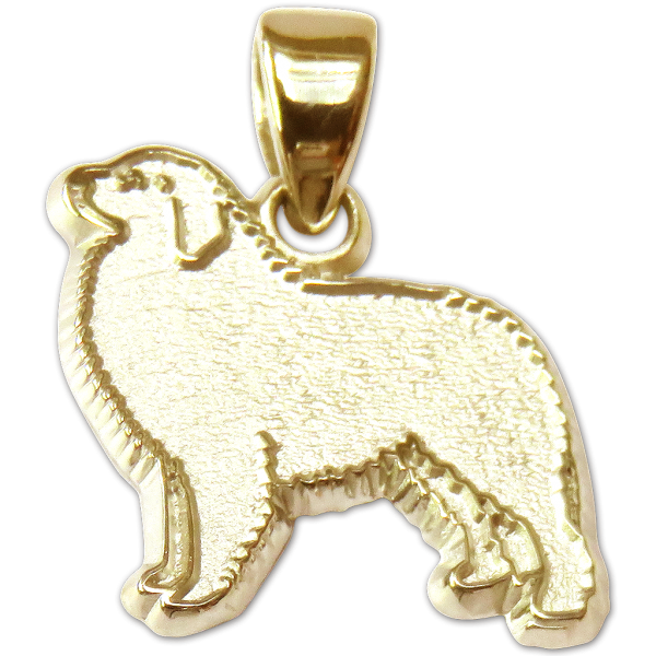 Great Pyrenees Charm or Pendant in Sterling or 14K Gold