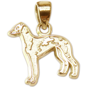 Italian Greyhound Charm or Pendant in Sterling or 14K Gold