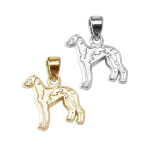 Italian Greyhound Charm or Pendant in Sterling Silver or 14K Gold
