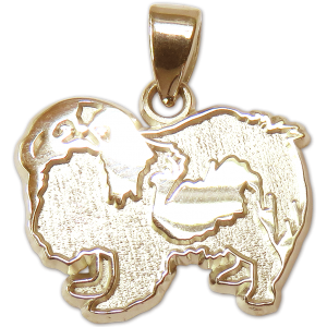 Japanese Chin Charm or Pendant in Sterling or 14K Gold