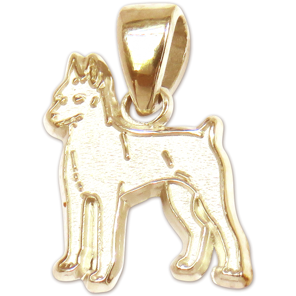 Miniature Pinscher Charm or Pendant in Sterling or 14K Gold