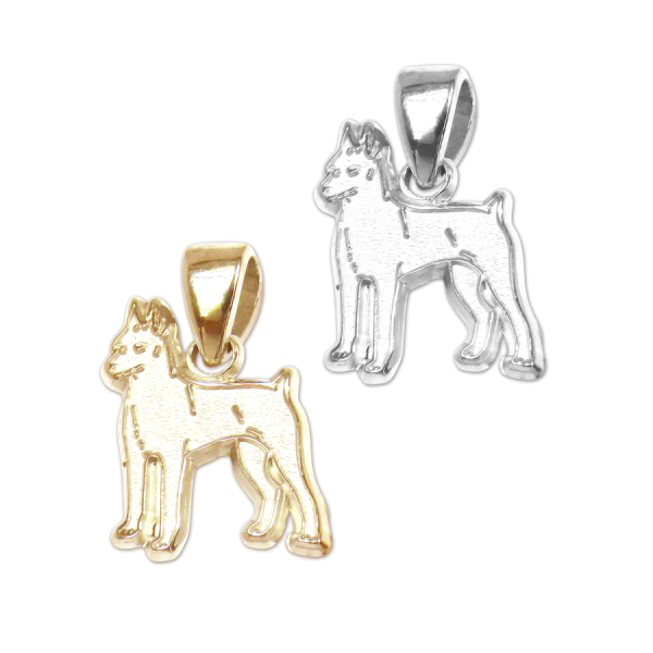 Miniature Pinscher Charm or Pendant in Sterling Silver or 14K Gold