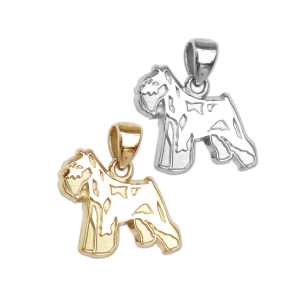 Miniature Schnauzer Charm or Pendant in Sterling Silver or 14K Gold