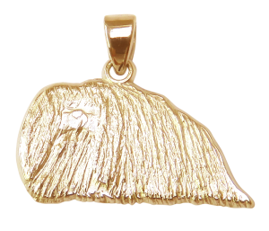 Pekingese Charm or Pendant in Sterling or 14K Gold