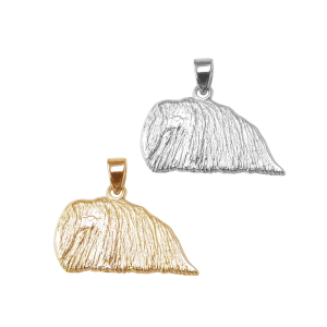Pekingese Charm or Pendant in Sterling Silver or 14K Gold