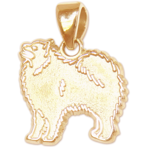 Samoyed Charm or Pendant in Sterling or 14K Gold