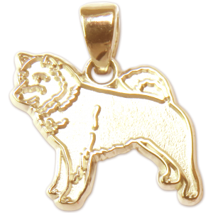 Shiba Inu Charm or Pendant in Sterling or 14K Gold
