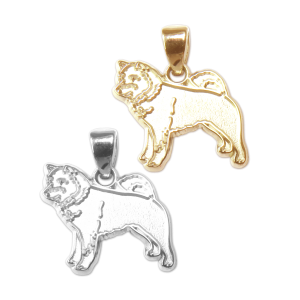 Shiba Inu Charm or Pendant in Sterling Silver or 14K Gold
