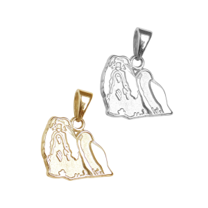 Shih Tzu Charm or Pendant in Sterling Silver or 14K Gold