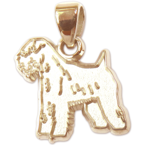 Soft Coated Wheaten Terrier Charm or Pendant in Sterling or 14K Gold
