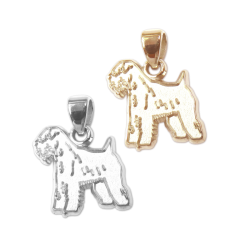 Soft Coated Wheaten Terrier Charm or Pendant in Sterling Silver or 14K Gold