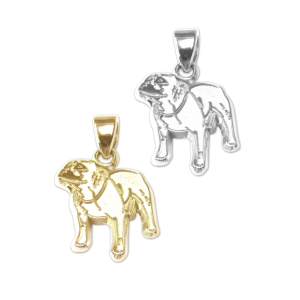 Staffordshire Bull Terrier Charm or Pendant in Sterling Silver or 14K Gold
