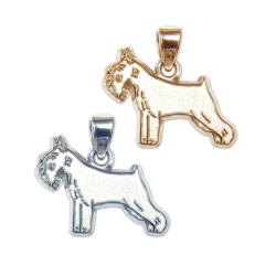 Standard Schnauzer Charm or Pendant in Sterling Silver or 14K Gold