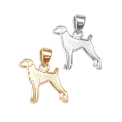 Vizsla Charm or Pendant in Sterling Silver or 14K Gold