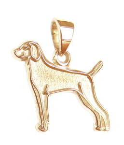 Weimaraner Charm or Pendant in Sterling or 14K Gold