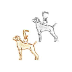 Weimaraner Charm or Pendant in Sterling Silver or 14K Gold