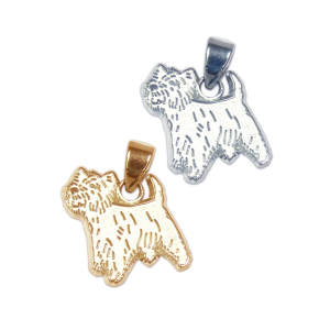 West Highland White Terrier - Westie - Charm or Pendant in Sterling Silver or 14K Gold