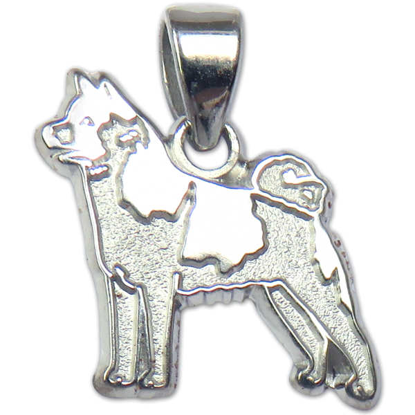 Akita Charm or Pendant in Sterling or 14K Gold