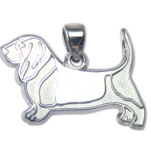 Basset Hound Charm or Pendant in Sterling or 14K Gold