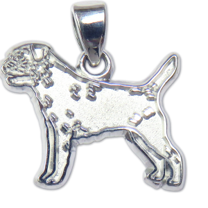 Border Terrier Charm or Pendant in Sterling or 14K Gold