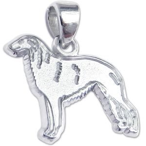 Borzoi Charm or Pendant in Sterling or 14K Gold
