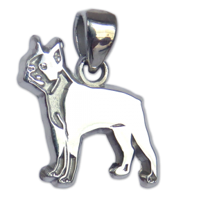 Boston Terrier Charm or Pendant in Sterling or 14K Gold