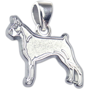 Boxer Charm or Pendant in Sterling or 14K Gold