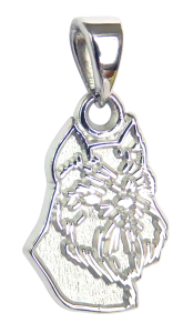 Brussels Griffon Charm or Pendant in Sterling or 14K Gold