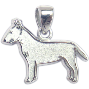 Bull Terrier Charm or Pendant in Sterling or 14K Gold