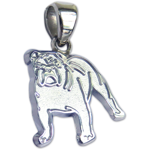 Bulldog Charm or Pendant in Sterling or 14K Gold