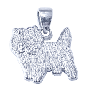 Cairn Terrier Charm or Pendant in Sterling or 14K Gold