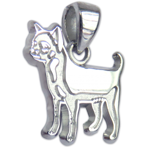 Smooth Chihuahua Charm or Pendant in Sterling or 14K Gold