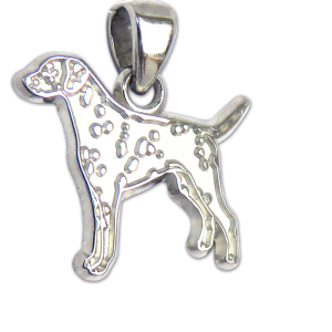 Dalmatian Charm or Pendant in Sterling or 14K Gold