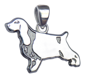 English Cocker Spaniel Charm or Pendant in Sterling or 14K Gold