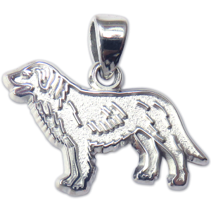 Flat Coated Retriever Charm or Pendant in Sterling or 14K Gold