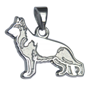 German Shepherd Dog Charm or Pendant in Sterling or 14K Gold