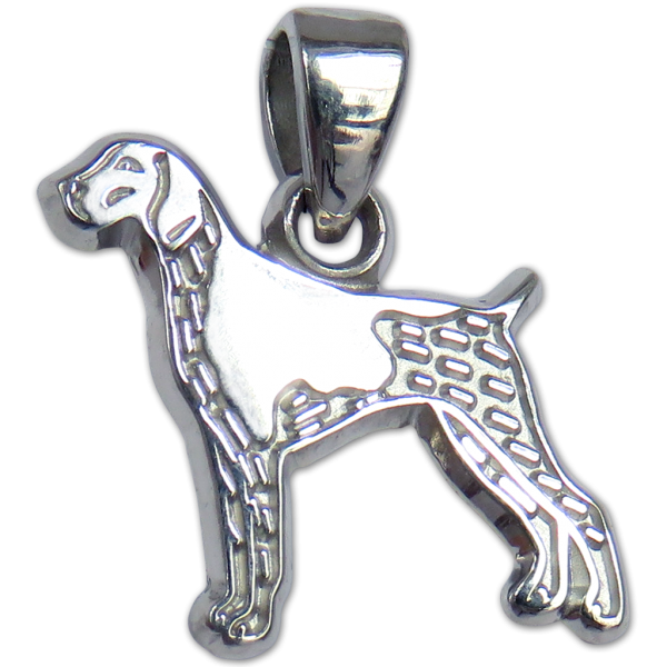 German Shorthaired Pointer Charm or Pendant in Sterling or 14K Gold