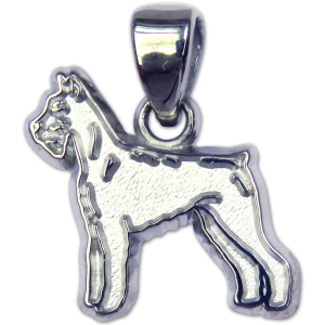 Giant Schnauzer Charm or Pendant in Sterling or 14K Gold