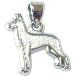 Great Dane Charm or Pendant in Sterling or 14K Gold