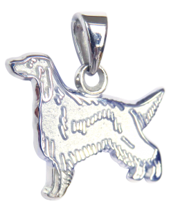 Irish Setter Charm or Pendant in Sterling or 14K Gold