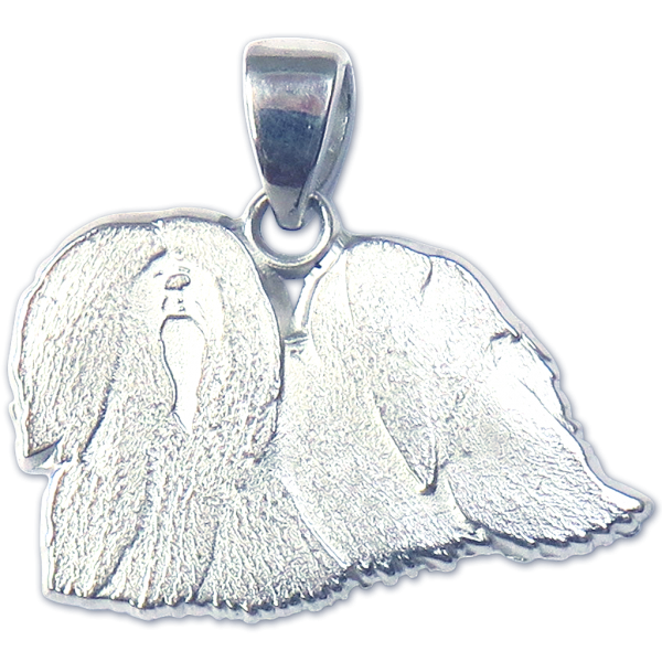 Lhasa Apso Charm or Pendant in Sterling or 14K Gold