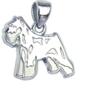 Miniature Schnauzer Charm or Pendant in Sterling or 14K Gold