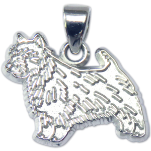 Norwich Terrier Charm or Pendant in Sterling or 14K Gold