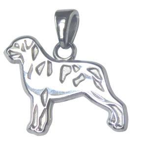 Rottweiler Charm or Pendant in Sterling or 14K Gold