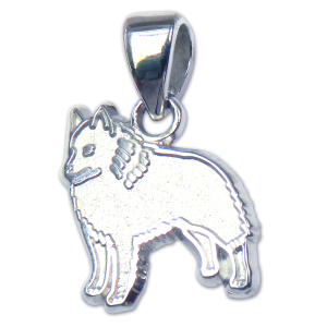 Schipperke Charm or Pendant in Sterling or 14K Gold