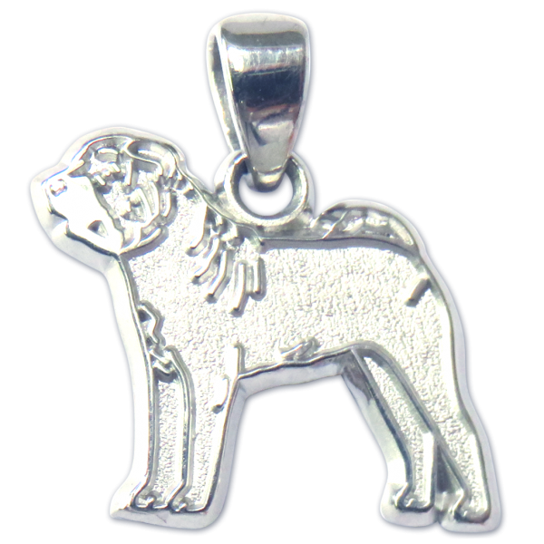 Chinese Shar-Pei Charm or Pendant in Sterling or 14K Gold