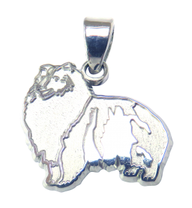 Shetland Sheepdog - Sheltie - Charm or Pendant in Sterling or 14K Gold